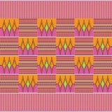 布料kente 无缝的模式 库存例证
