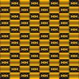 布料kente 无缝非洲的模式 库存例证