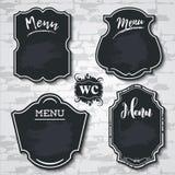 布景元素黑板菜单传染媒介样品标记shapes_ 库存例证