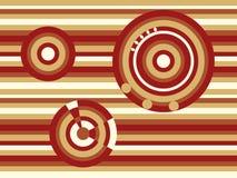 布朗与条纹和圆环的摘要背景 图库摄影