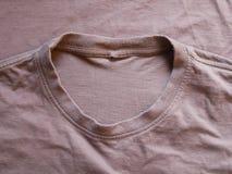 布朗丝绸缎纹理,棉织物背景 图库摄影