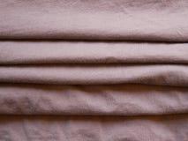 布朗丝绸缎纹理,棉织物背景 免版税图库摄影