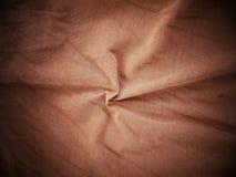 布朗丝绸缎纹理,棉织物背景 免版税库存照片