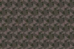 布朗两定调子三角油漆样式背景 免版税图库摄影