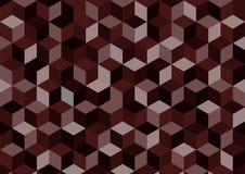 布朗传染媒介摘要背景,在方形的样式的几何背景 免版税库存图片