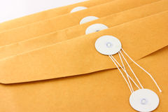 布朗信封为企业使用 免版税库存图片