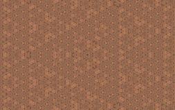 布朗六角形作为泰国现代无缝的背景的whith线 免版税库存照片