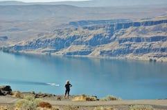 布朗利水库惊人的视图爱达荷状态 免版税库存照片