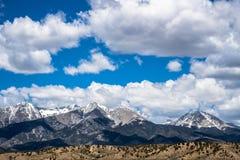 布朗卡&加利福尼亚峰顶-落矶山科罗拉多 免版税库存照片