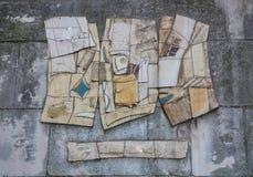 布朗和灰色抽象派绘画 库存图片