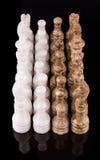 布朗和白色石头做了国际象棋棋局II 免版税库存照片