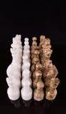 布朗和白色石头做了国际象棋棋局IV 免版税库存图片