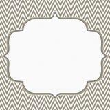 布朗和白色雪佛之字形框架背景 库存图片