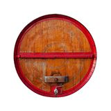 布朗和红色桶 免版税库存照片
