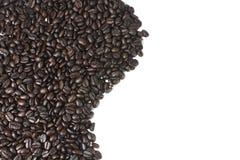 布朗咖啡豆纹理 免版税库存图片