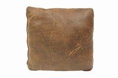 布朗在白色查出的葡萄酒枕头 免版税库存照片