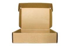 布朗在白色背景的纸板箱 免版税库存照片