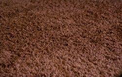 布朗地毯纹理 免版税库存照片