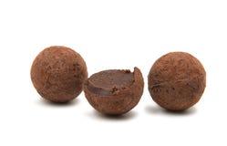 布朗块菌状巧克力 库存照片