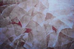 布朗墙壁部分地绘与漆滚筒 免版税库存图片