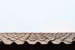 布朗屋顶 库存照片