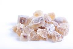 布朗岩石糖 库存照片