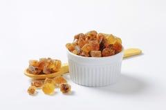 布朗岩石糖 免版税库存图片
