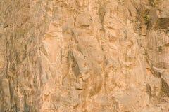 布朗岩石纹理 非常背景详细实际石头 库存照片
