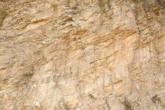 布朗岩石纹理 非常背景详细实际石头 免版税图库摄影