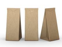 布朗折叠了与裁减路线的纸袋 免版税库存照片