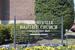 布朗斯维尔施洗约翰教堂1825,布朗斯维尔,田纳西 图库摄影