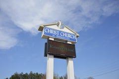 布朗斯维尔,田纳西基督教会  库存图片