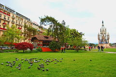 布朗斯维克纪念碑公园日内瓦瑞士 库存图片