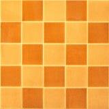 布朗方形瓦片模式 库存照片