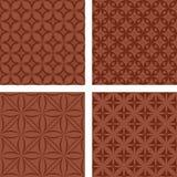 布朗无缝的样式集合 向量例证