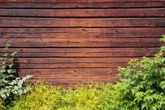 布朗木墙壁 免版税库存照片