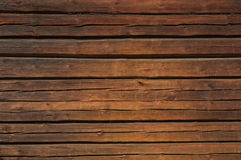 布朗木墙壁 免版税库存图片