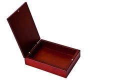 布朗木开放箱子 库存图片