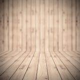 布朗木板条地板纹理 免版税图库摄影