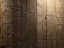 布朗木板条墙壁纹理背景 免版税库存图片