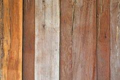 布朗木板条墙壁 库存图片