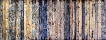 布朗木色的板条墙壁纹理背景 免版税图库摄影