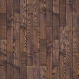 布朗木镶花地板。无缝的纹理。 免版税库存图片