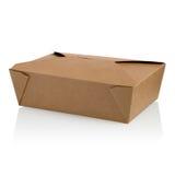 布朗未贴标签的纸食物箱子 库存照片