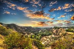 布朗森峡谷在洛杉矶 免版税库存照片