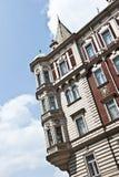 布朗欧洲砖瓦房 免版税库存照片
