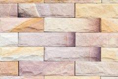 布朗混凝土或水泥现代瓦片墙壁背景和纹理 库存图片