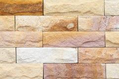 布朗混凝土或水泥现代瓦片墙壁背景和纹理 免版税库存图片