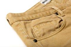 布朗牛仔裤 库存图片