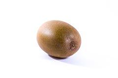 布朗猕猴桃整个果子新皮肤头发细节特写镜头被隔绝的W 免版税图库摄影
